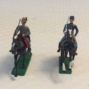 Set of civil war Calvary soldiers. Hand painted,